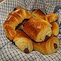 Suite des croissants et pains au choc