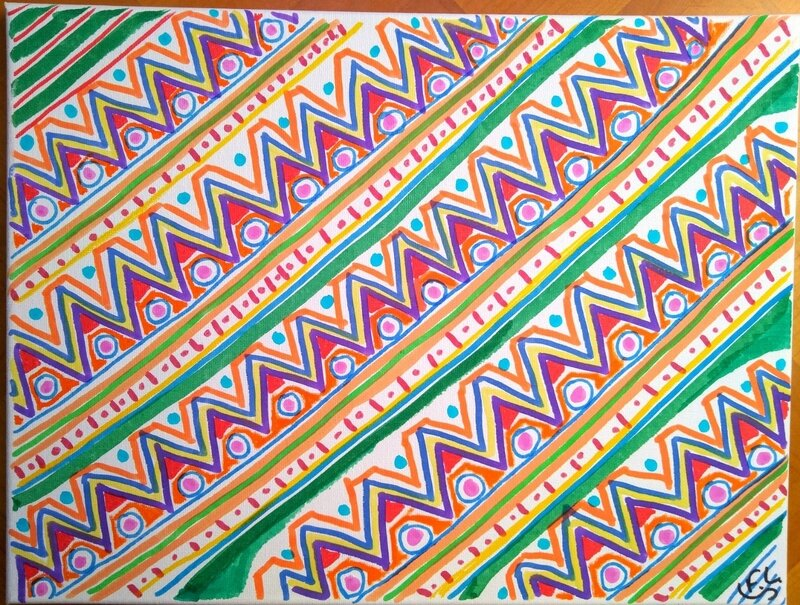 19 motifs triangles 30X40 cm