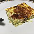 Flan de courgettes et saumon ww