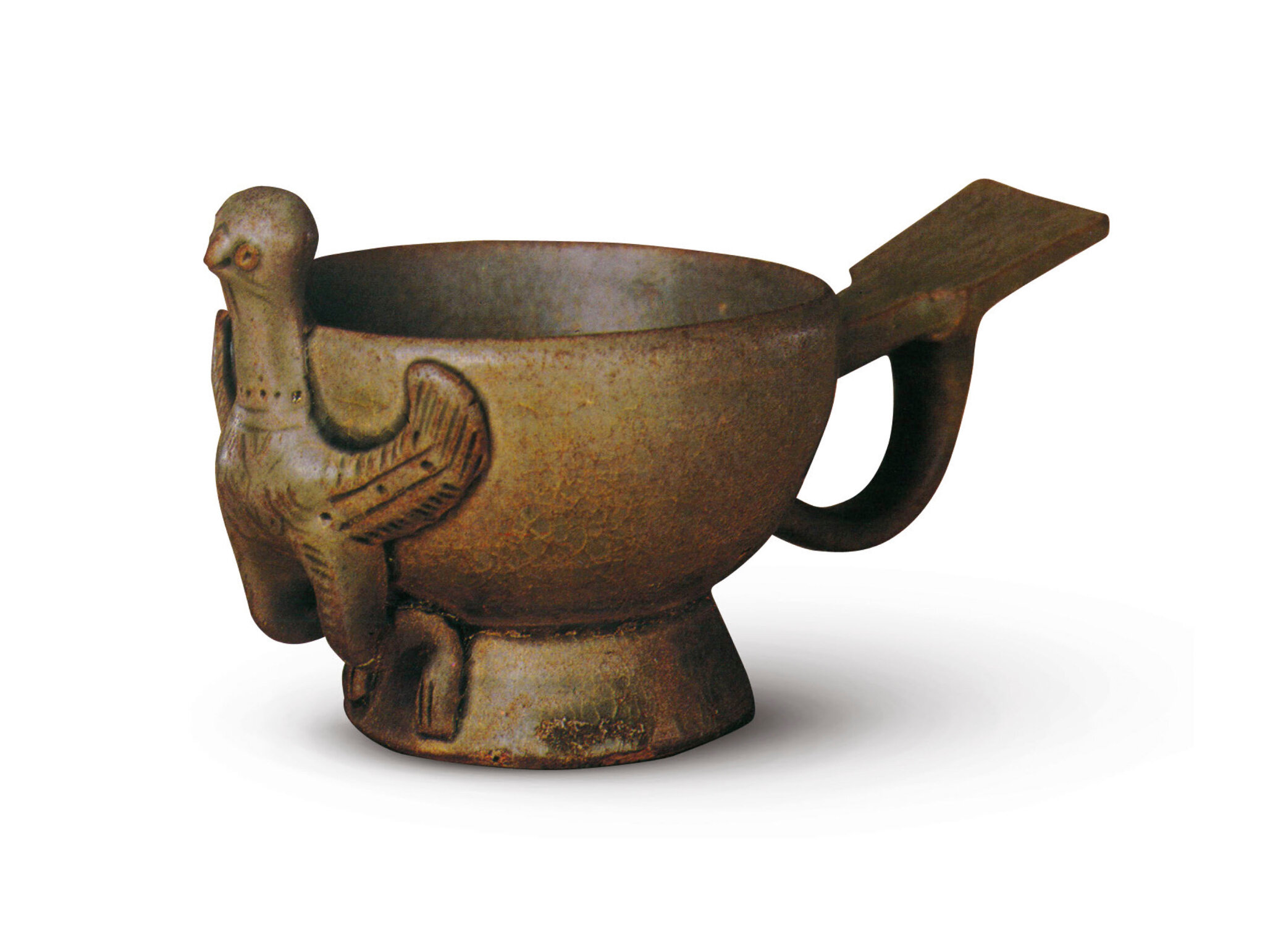 A Yue bird-form cup, Five Dynasties (907-960), in the collection of the Palace Museum, Beijing