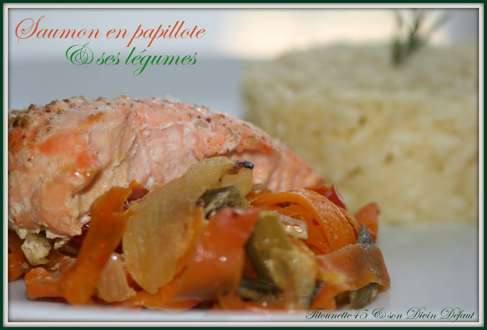 Papillottes de saumon aux légumes