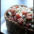 Cheesecake salé comme un tartare de saumon - les joies des repas entre filles
