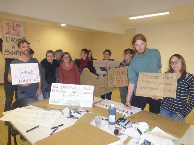 Marche pour le climat_collectif_il est temps d'agir_atelier_pancartes_Avranches_2018