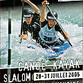 Championnats de france eaux vives 2005