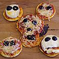 Halloween : mini pizza monstrueuse