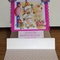 Carte pop-up d'anniversaire