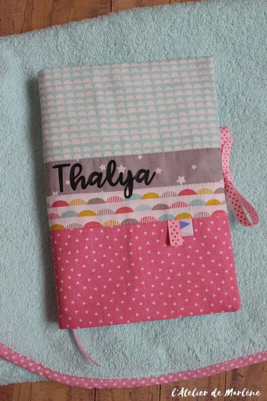 housse de carnet de santé bébé Thalya