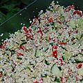 Salade de chou fleur cru façon taboulé