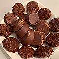 Bouchées croquantes au chocolat et graines de tournesol