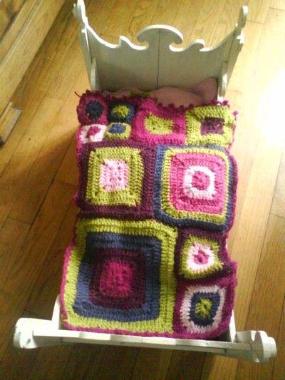 couverture au crochet pour poupée