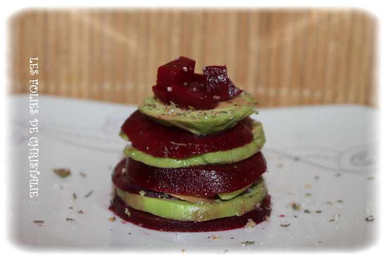 Millefeuille betteraves avocat 2