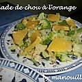 Salade de chou à l'orange
