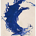 Christie's to offer monumental canvas by yves klein