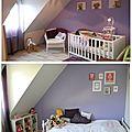D'une chambre de bébé à une chambre de petite fille [avant/après]