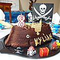 Gateau au chocolat pirate