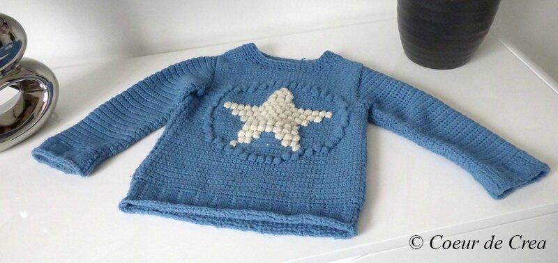 Pull Enfant Etoile Crochet