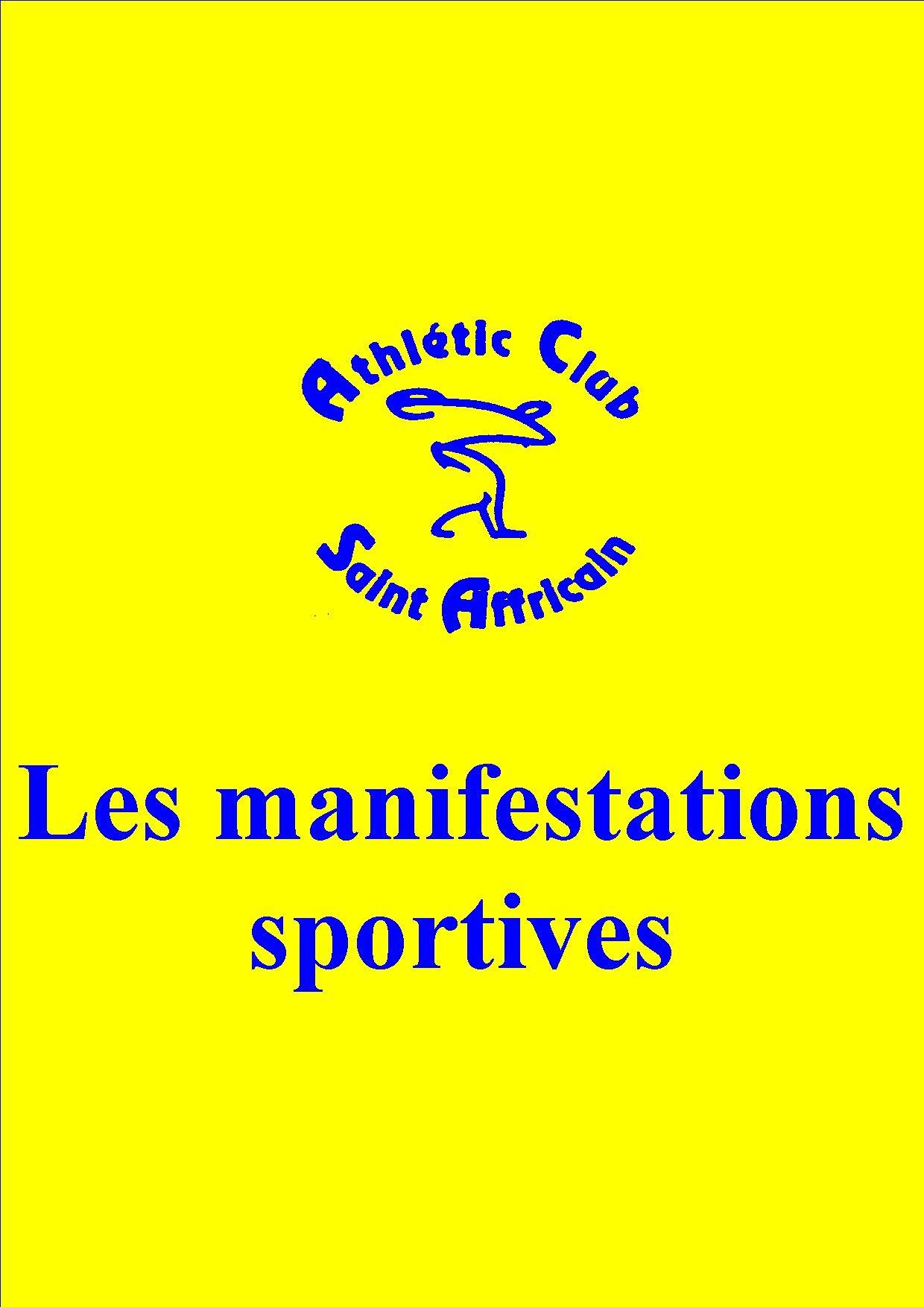 Logo club grand format manifestations club jaune et bleu