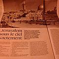 Jérusalem sous le ciel exactement