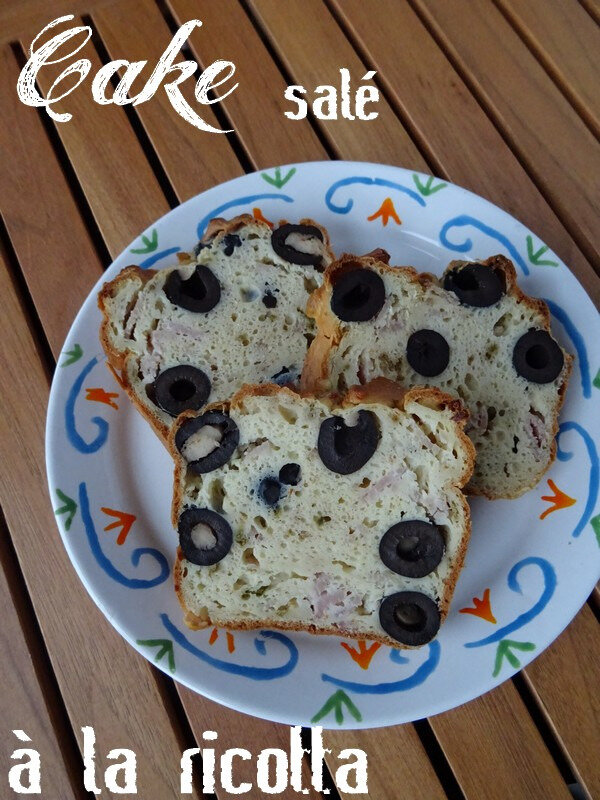 Cake Apero Ricotta - olives - jambon