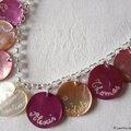 Fête des Mères (collier personnalisé sur chaîne argent massif)