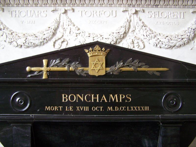 Détail du tombeau de Bonchamps