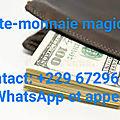 Richesse portefeuille magique a l'aide d'une poudre magique