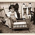 Petit mari fabrique un berceau pour bébé pauline