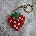 Portes clés en perle hama