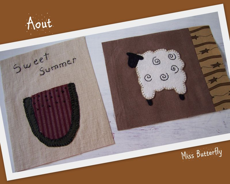 Marie et son country quilt Aout