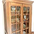 Armoire ancienne vitrée bois massif