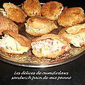 Minis sandwichs panés