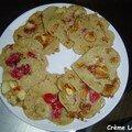 Pancakes aux framboises et à la banane