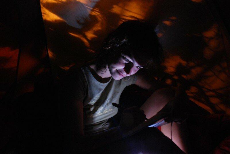 Avant LA nuit sous la tente
