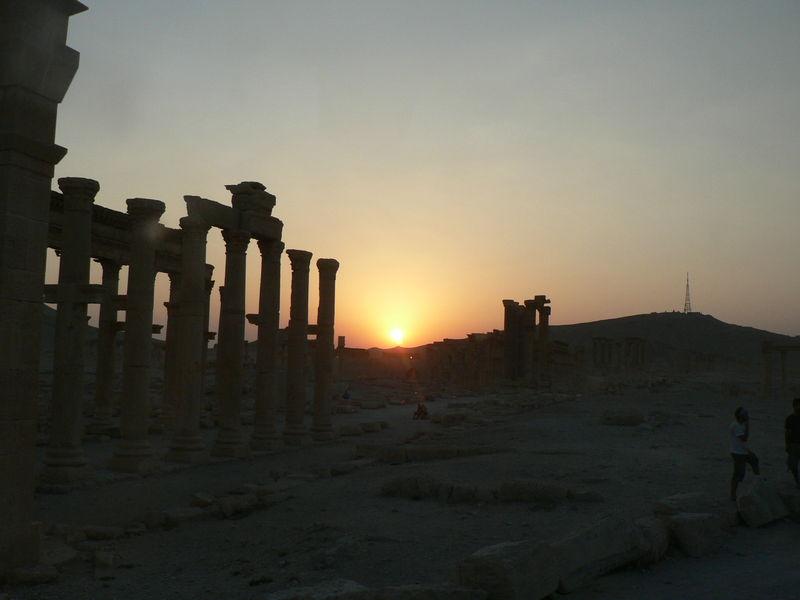 Palmyre au coucher du soleil