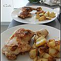 Cuisses de poulet au citron & au bitter angostura