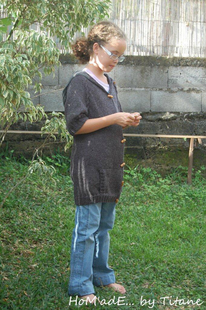 Veste tirée du modèle Maui - Kids Tricot
