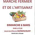 Marché fermier et de l'artisanat .... blérancourt (02) ...