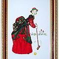 Carton Mousse La Joueuse de croquet 20x30 cm