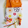 Sac à dos orange multifleur