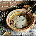 Crème de panais et sa mousse de cèpes.
