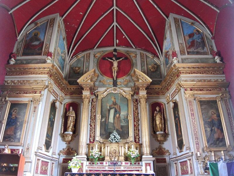 Mendionde, église saint-Cyprien, intérieur, retable (64)