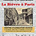 Invitation ! vernissage de l'exposition la bievre a paris - mercredi 22 mai, à partir de 18h30 - centre d'animation dunois (7501
