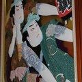 Tableau en tissu en relief dans l'espace Japan Moment