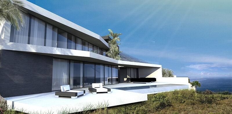 Construire une maison contemporaine sur le golf de saint tropez