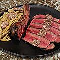 Côte de bœuf aubrac, truffe borchii et haricots beurre !