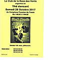 Thé dansant le 28 octobre 2017 au complexe fosséen de 14h30 à 19h30