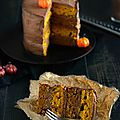 Halloween layer cake {potiron & mousse au chocolat} #vegan