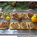 Toasts a la tapenade verte, noire et anchoïade