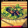 Salade de girolles et gésiers