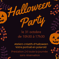 Halloween party 31 octobre 2018